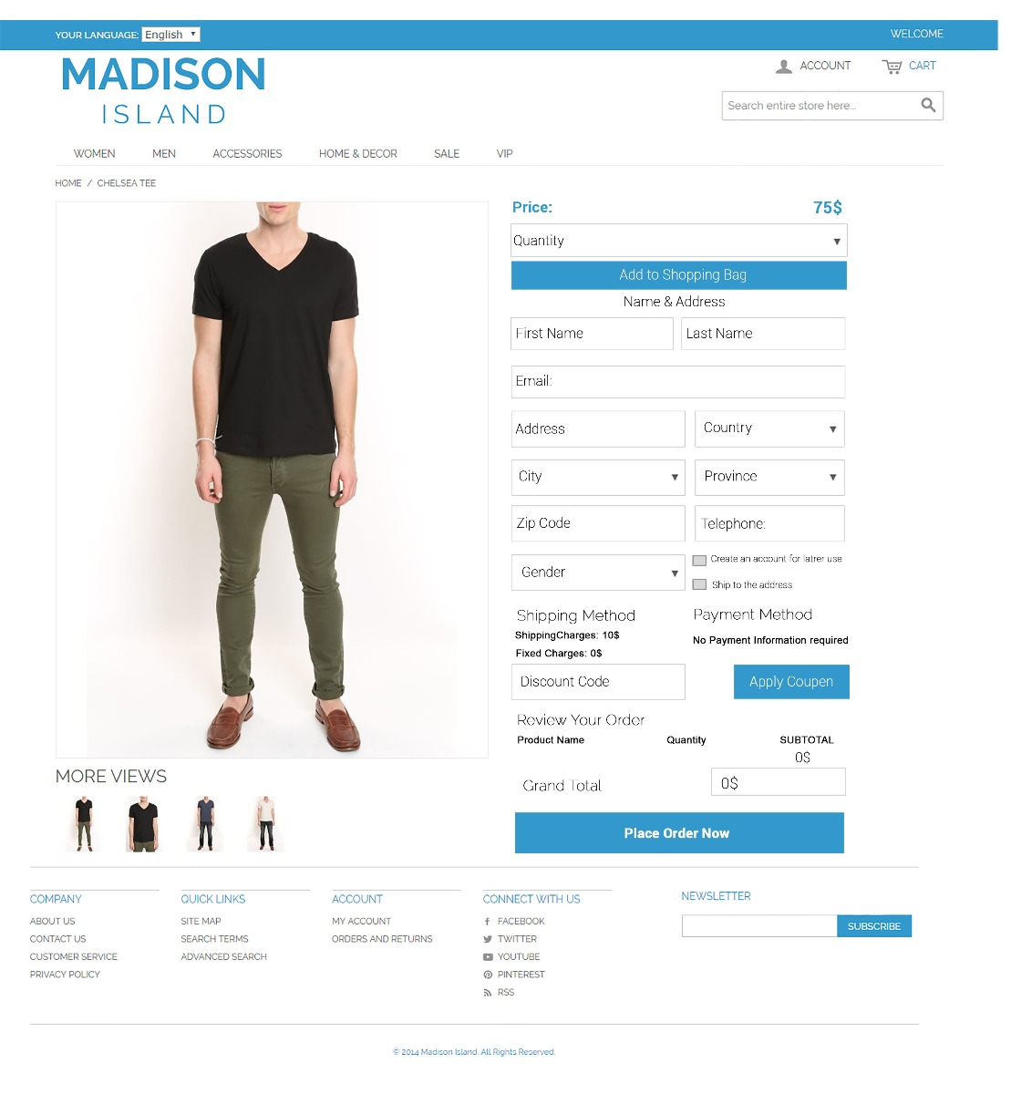 Magento product view check out extension
