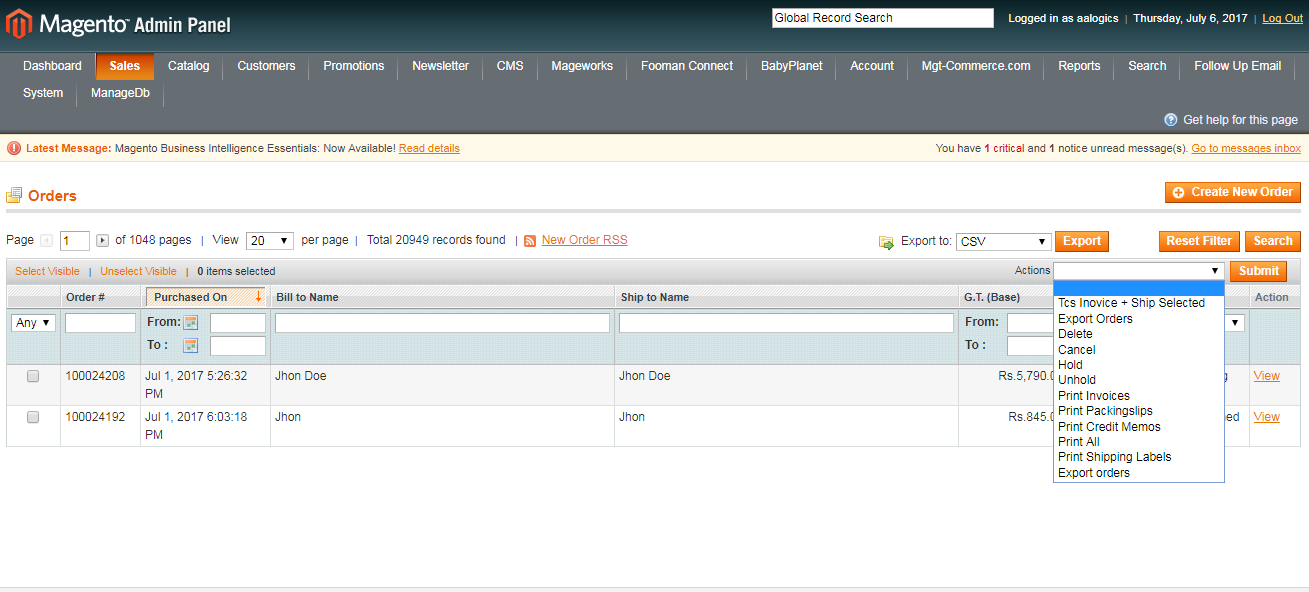 Best Magento Tcs Cod Extension