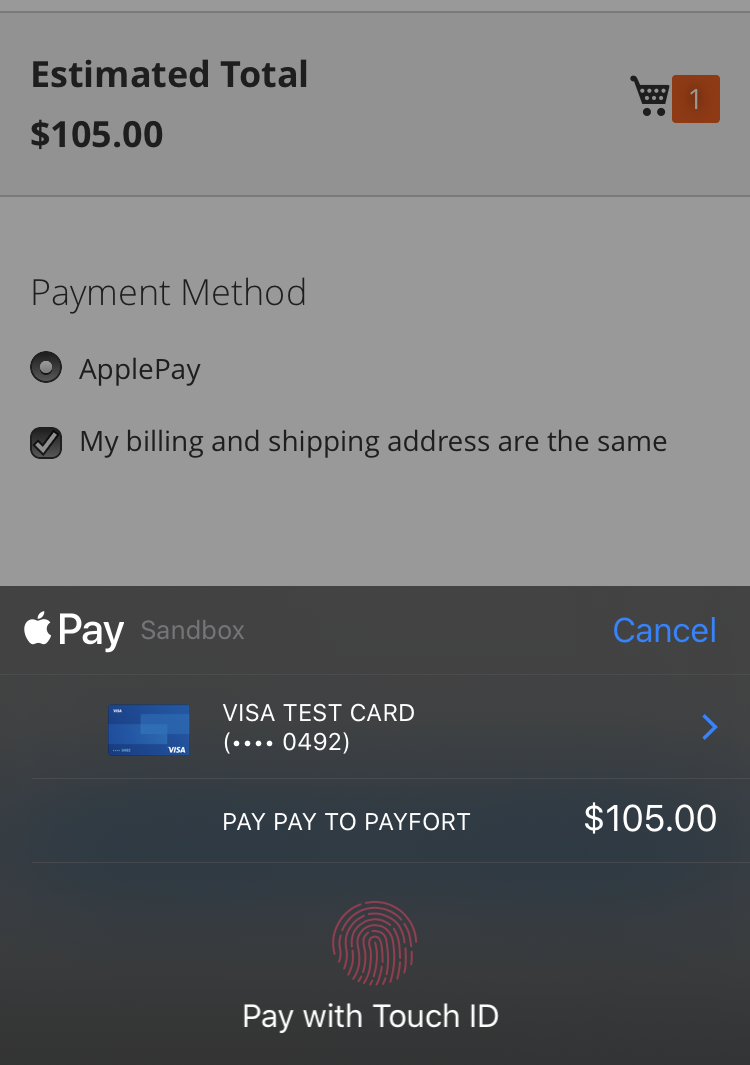 pay by apple payfort extension