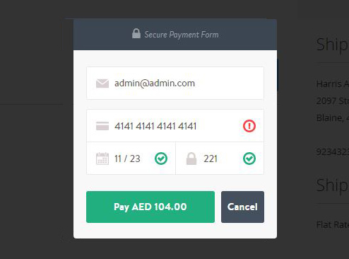 Payfort Extension checkout process