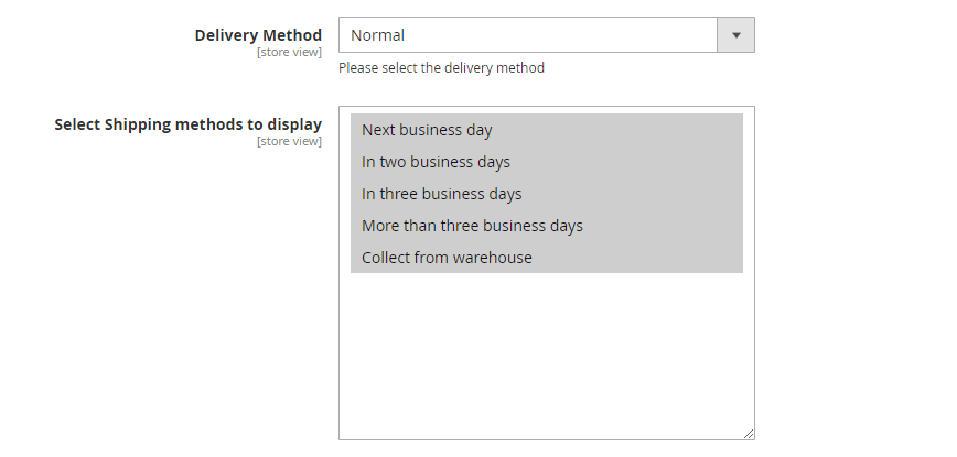 Magento delivery extension